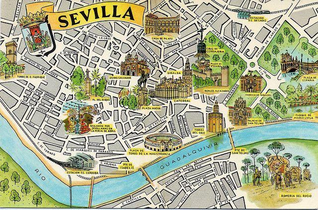 Mapa De Sevilla Capital Callejero.Mapa Turistico Sevilla Detraiteurvannederland